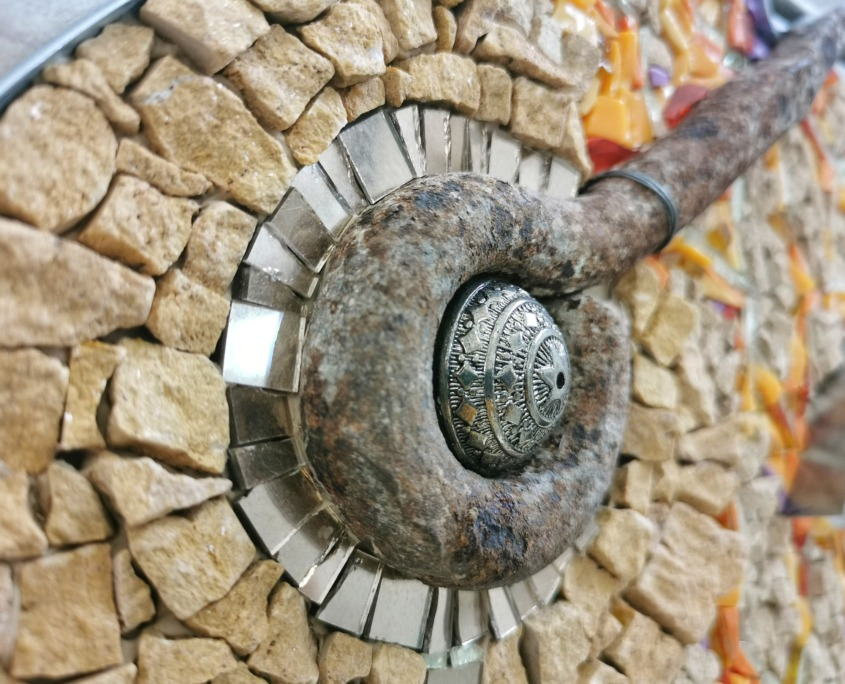 Rossella Casadio Pesce Giallo mosaico