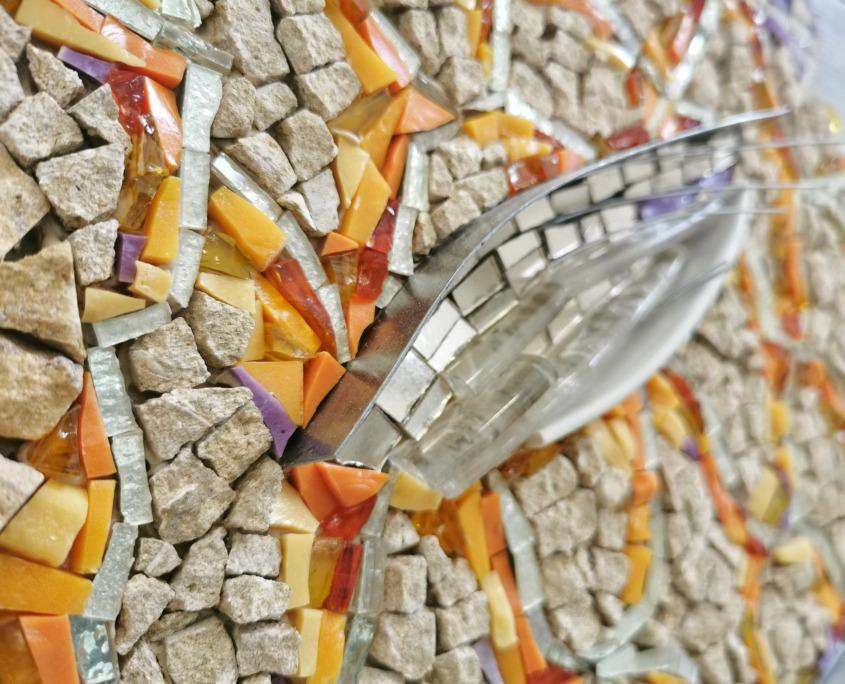 Rossella Casadio Pesce Giallo mosaico tecnica