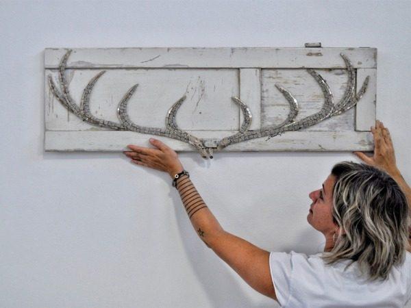 Rossella Casadio horns deer gray mosaic