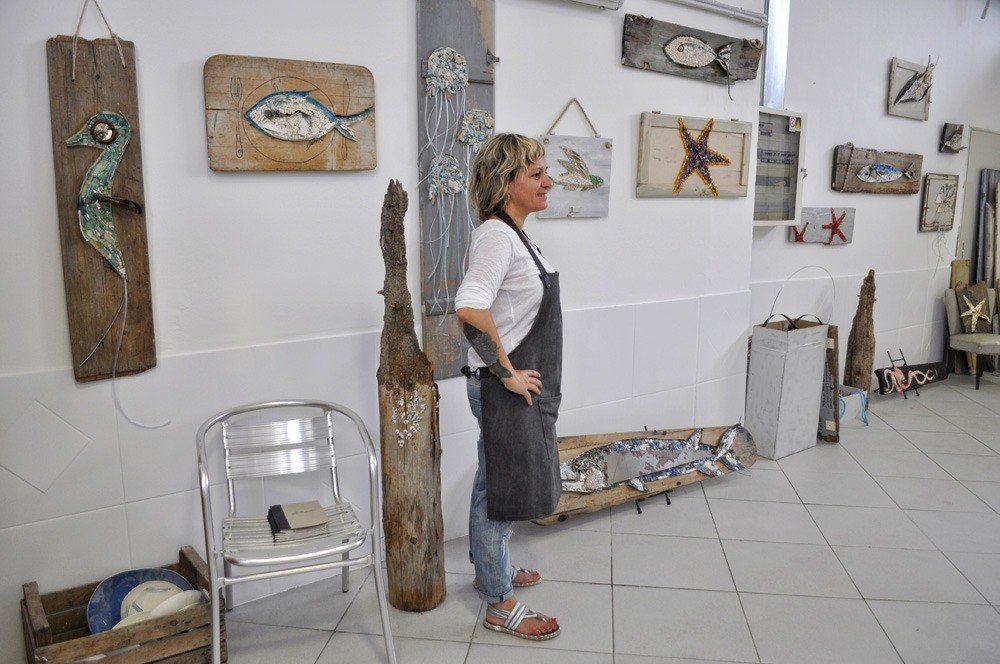 Rossella Casadio mosaicista laboratorio studio