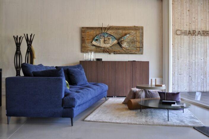 Rossella Casadio  fantastico pesce mosaico artistico moderno salotto decorazione parete