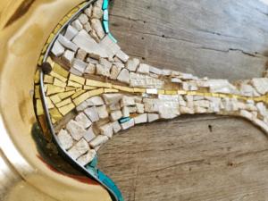 Rossella Casadio oro tessere mosaico artistico moderno
