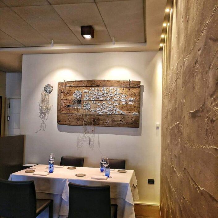 Rossella Casadio fondale marino mosaico artistico moderno decorazione parete immagini mosaico
