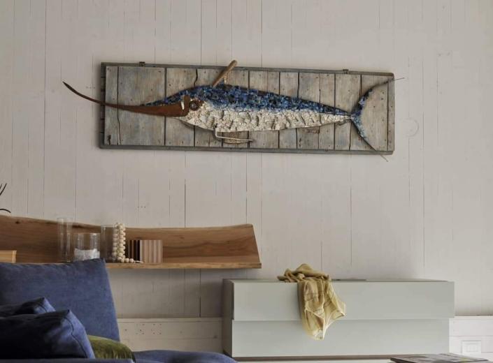 Rossella Casadio pesce spada mosaico